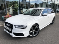 AUDI A4 2.0 TDI S LINE BLACK EDITION 175BHP ESTATE 14 14 £17975